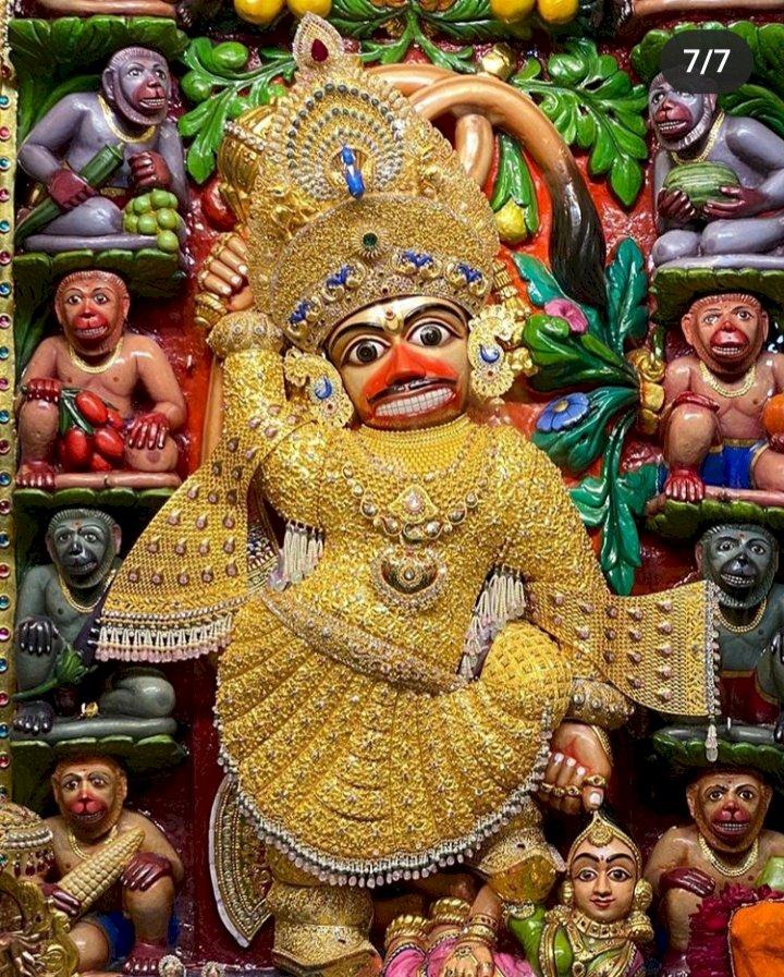 સાળંગપુર કષ્ટભંજન હનુમાનજીના 8 કિલો સોનાના વાઘા તૈયાર કરતા લાગ્યો 1 વર્ષ જેટલો સમય, જાણો કેવી છે વિશેષતાઓ