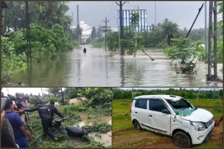 ભારે વરસાદને કારણે 15 લોકો વાહન સાથે તણાયા, અહીં તળાવમાં શહેર હોય એવી સ્થિતિ