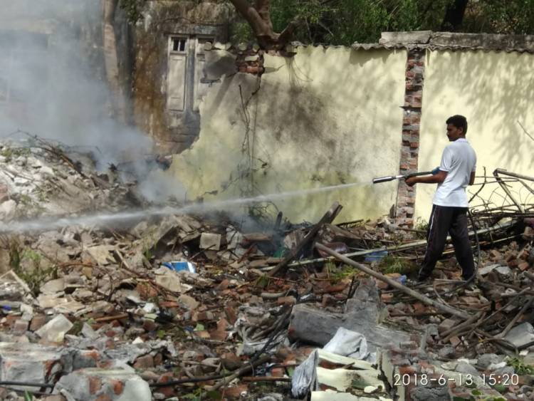 જામનગર:પોલીસમથક નજીક કઈ રીતે થયો બ્લાસ્ટ...??