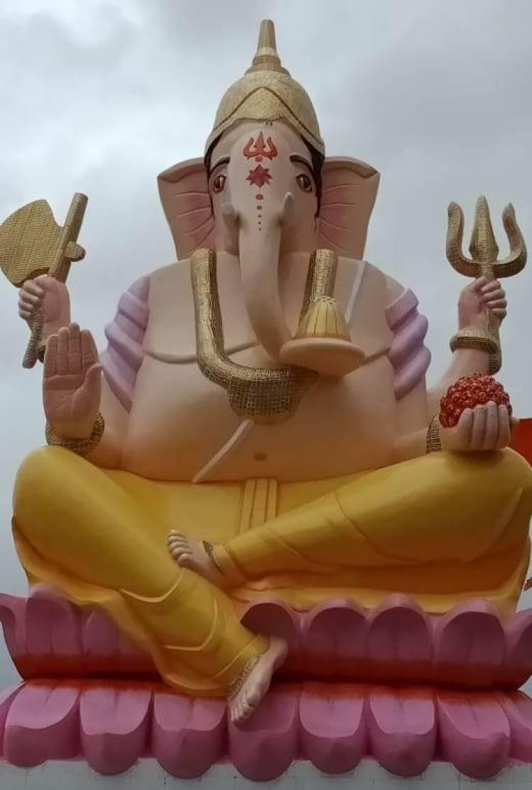 ગણેશ ચતુર્થી નિમિતે સપડા મંદિર ખાતે 33 ફૂટ ઊંચી ગણપતિની મુર્તિનું કાલે થશે અનાવરણ
