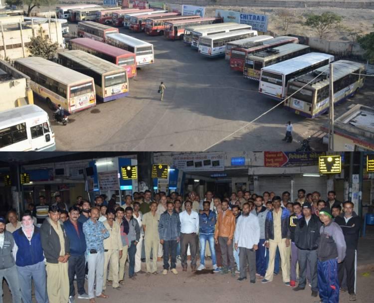 જામનગર સહિત ગુજરાતભરમાં એસટીની હડતાલથી ભારે દેકારો