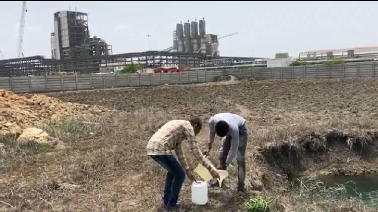 કુરંગા ની RSPL કંપનીમાં નમુના લેવા પહોચ્યું પ્રદુષણ બોર્ડ..